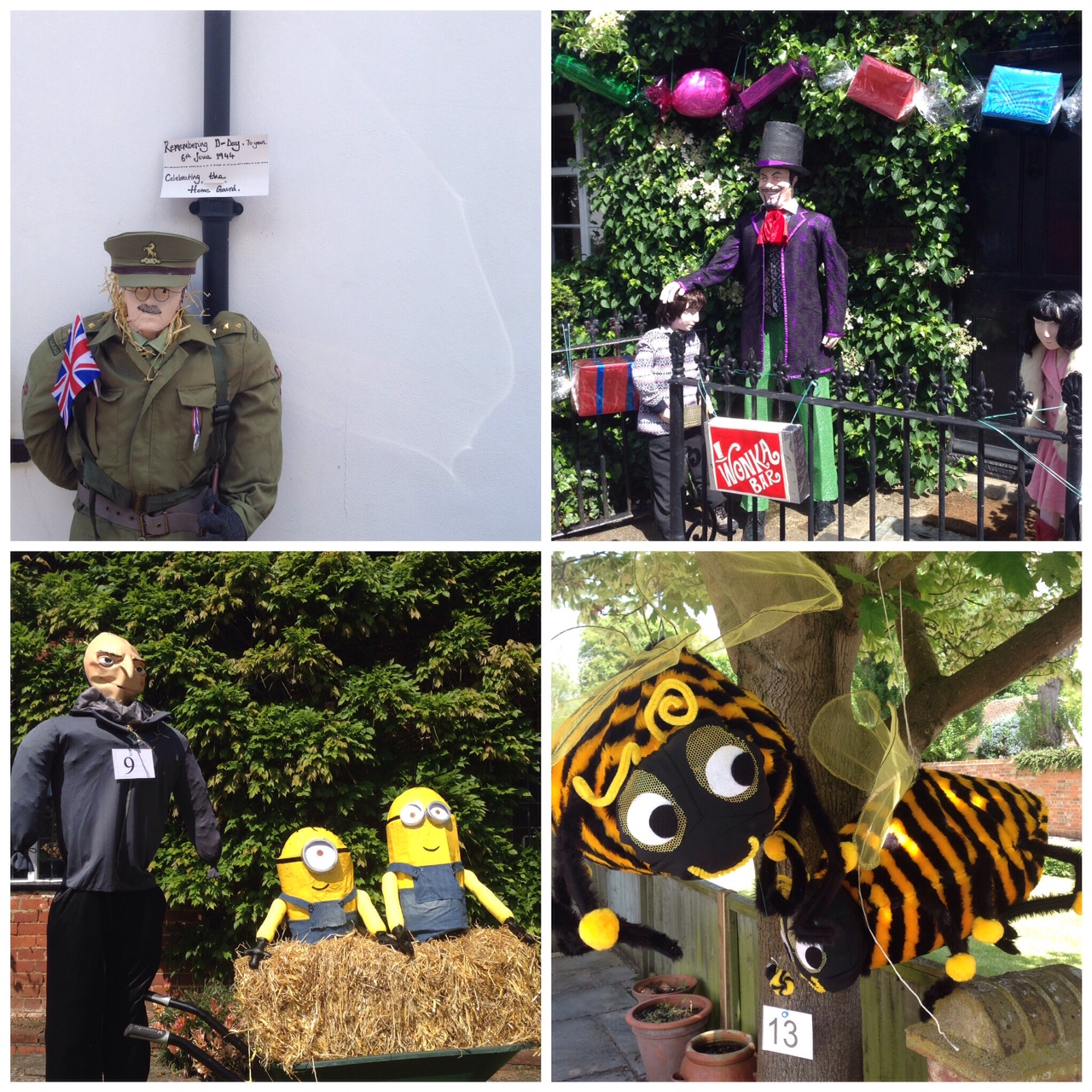 Captain Mainwaring, Willy Wonka, Gru & Minions and some busy bees...