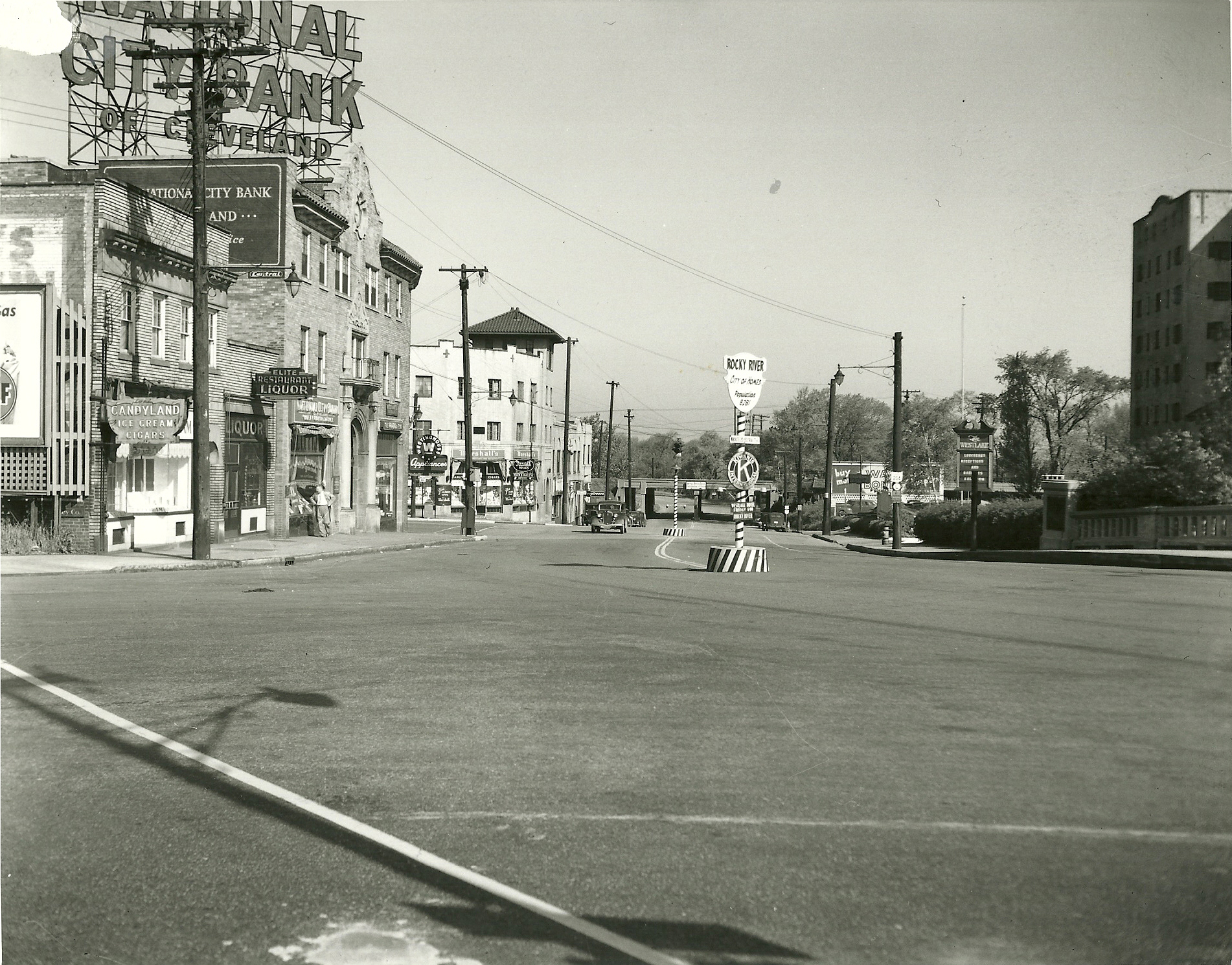 Downtown Rocky River 1949