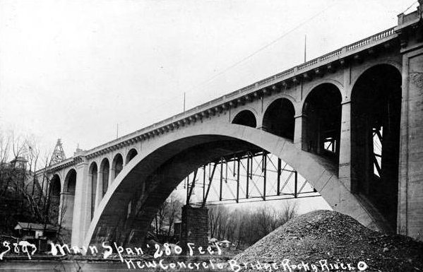 Rocky River bridge construction