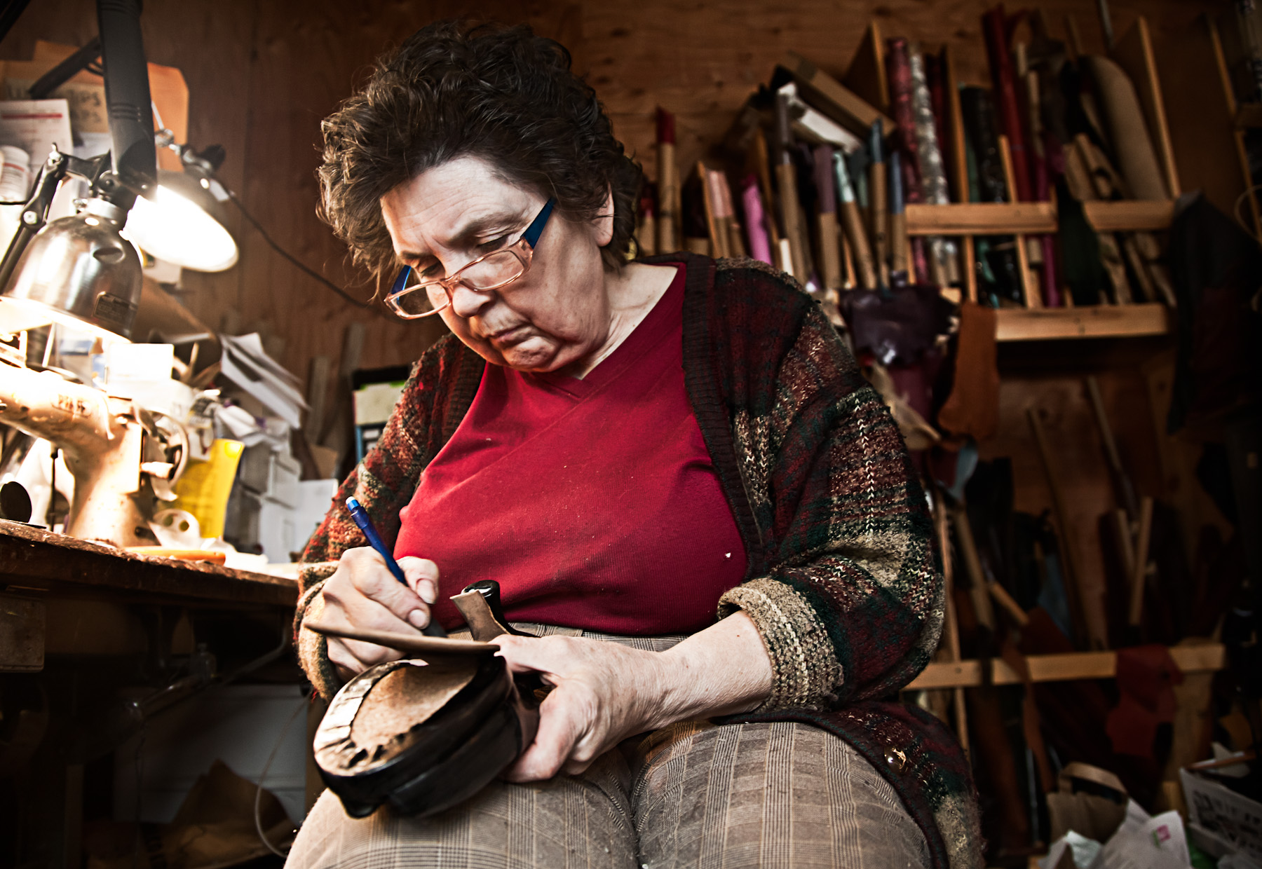 The Whistlers make custom shoes