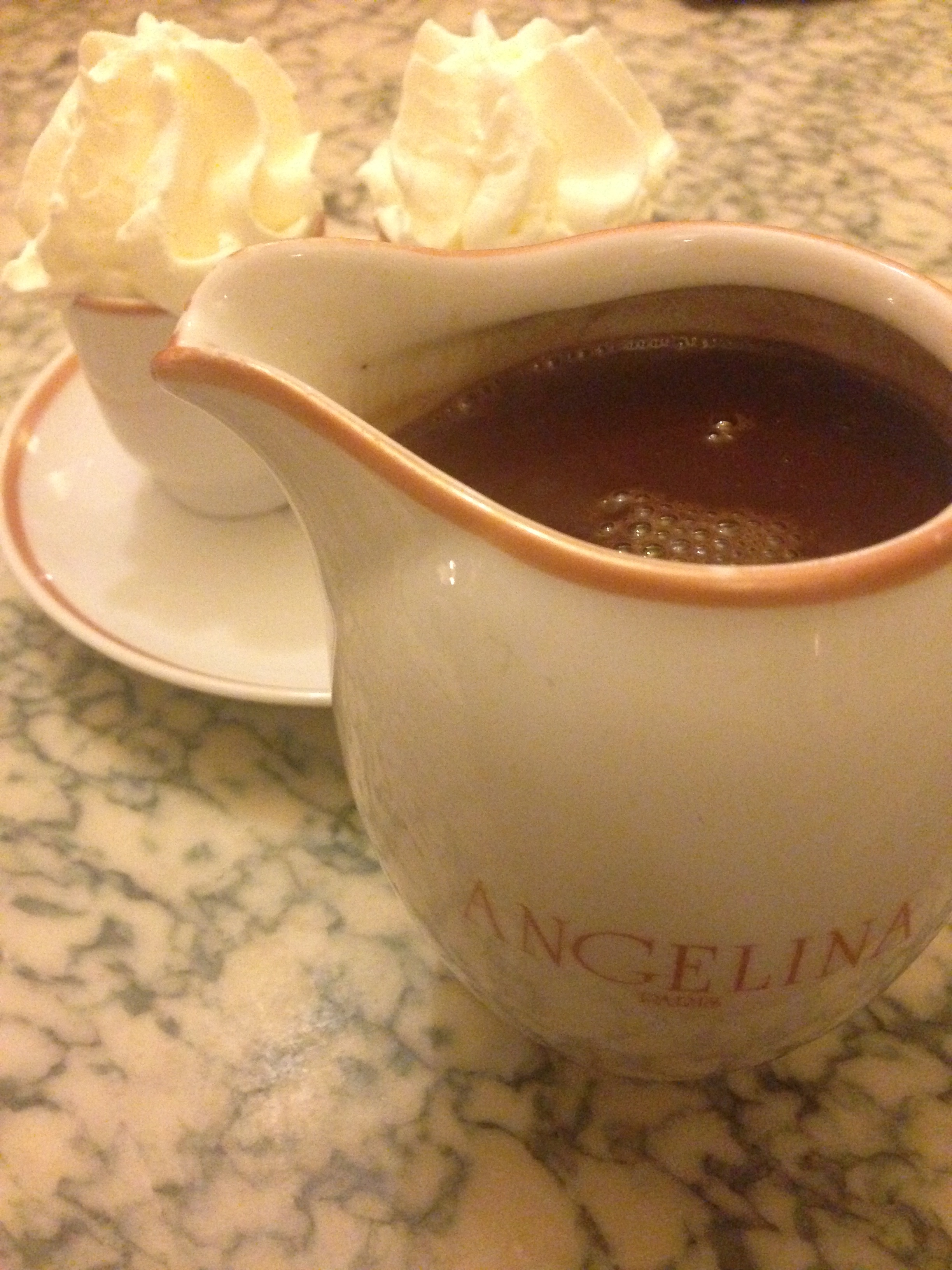 the world's best hot chocolate from Angelina