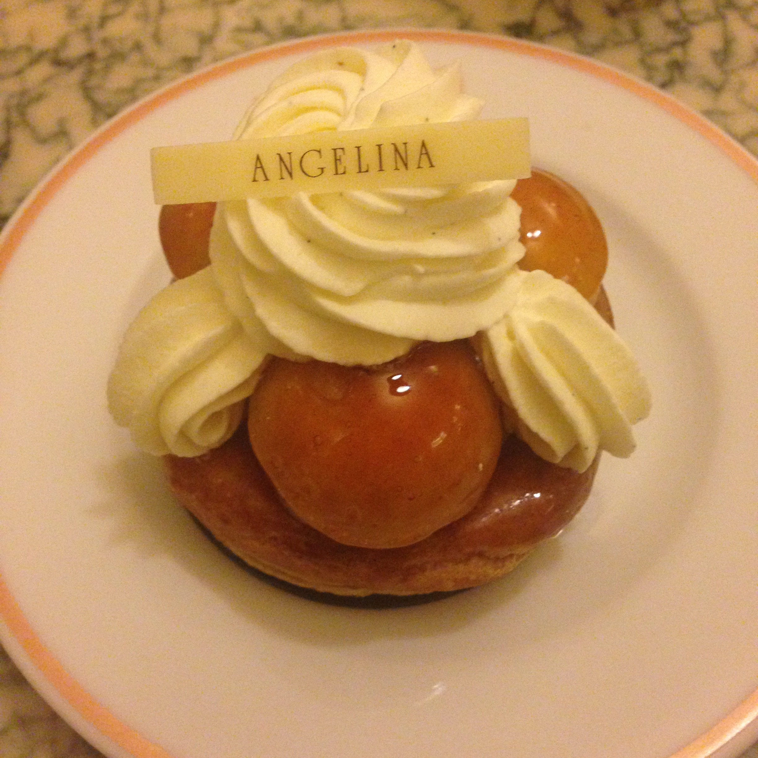St. Honore pastry at Angelina