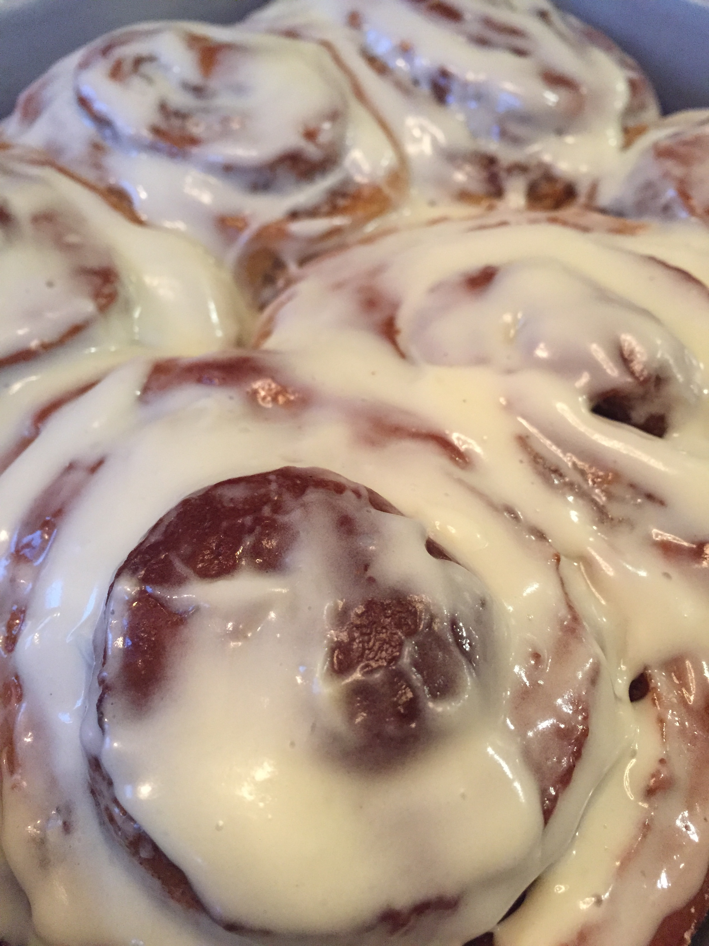 Gingerbread Cinnamon Rolls with Eggnog Glaze