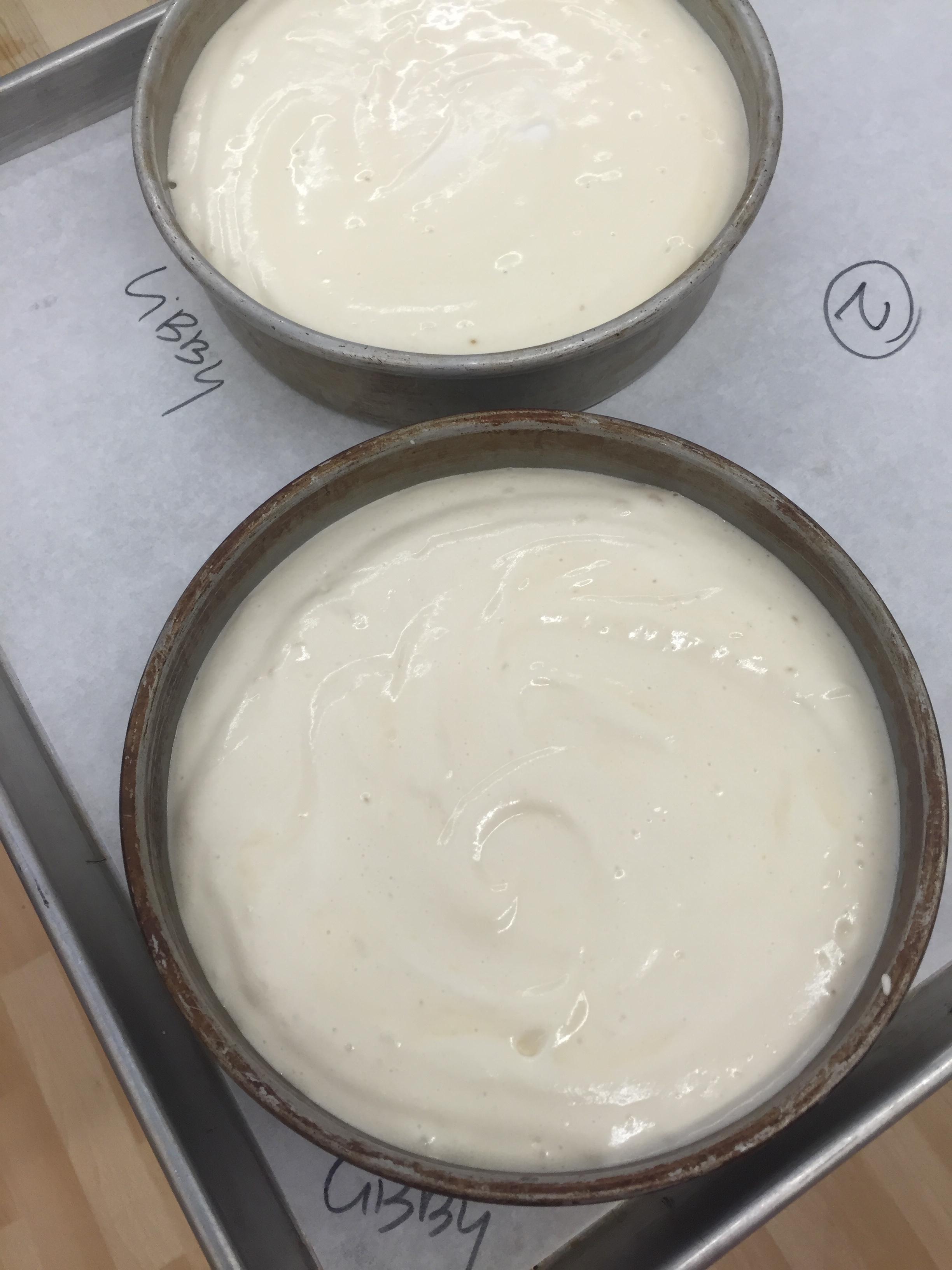 Chiffon cakes ready to bake!