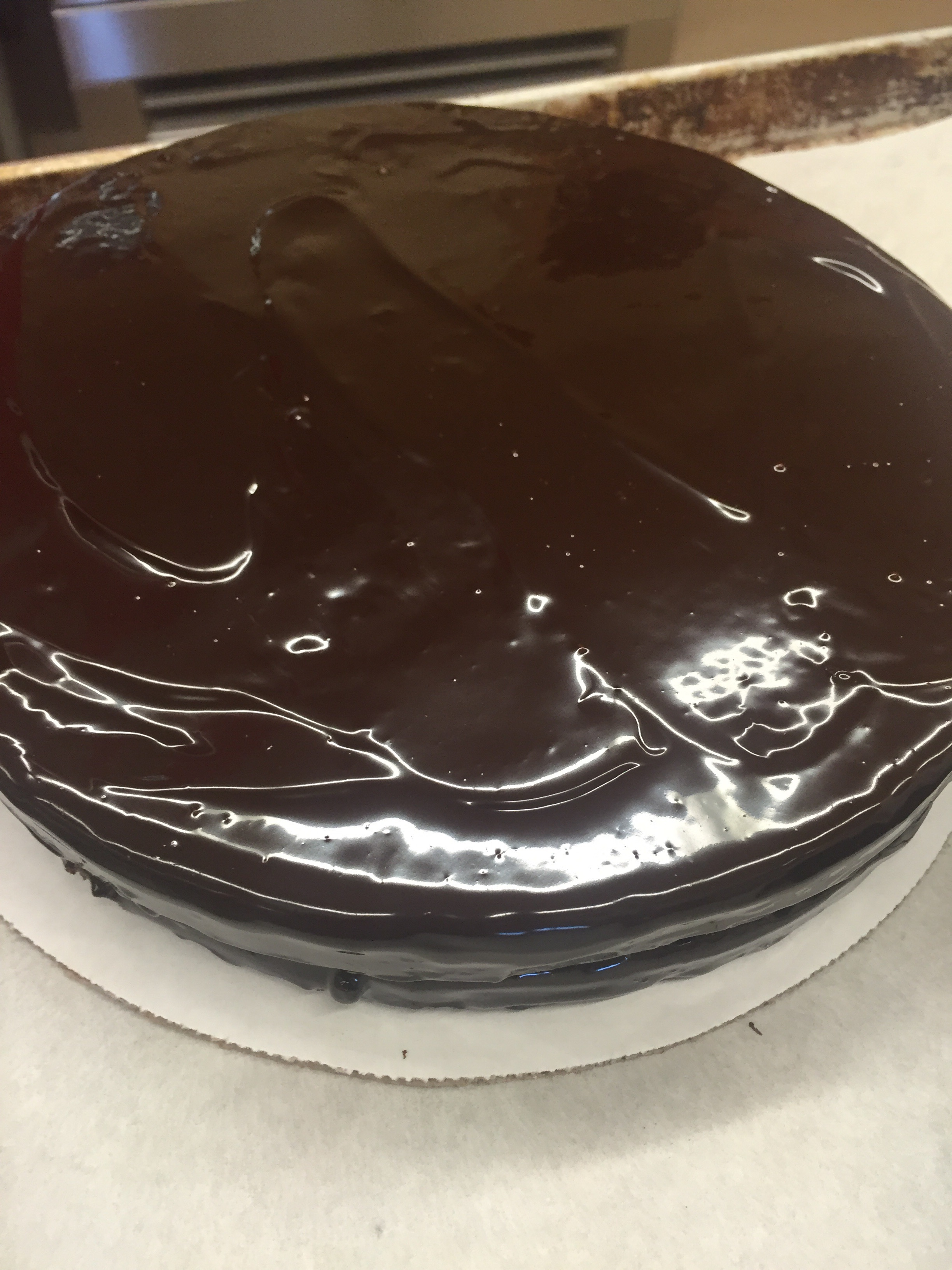 The finished Sacher torte!I