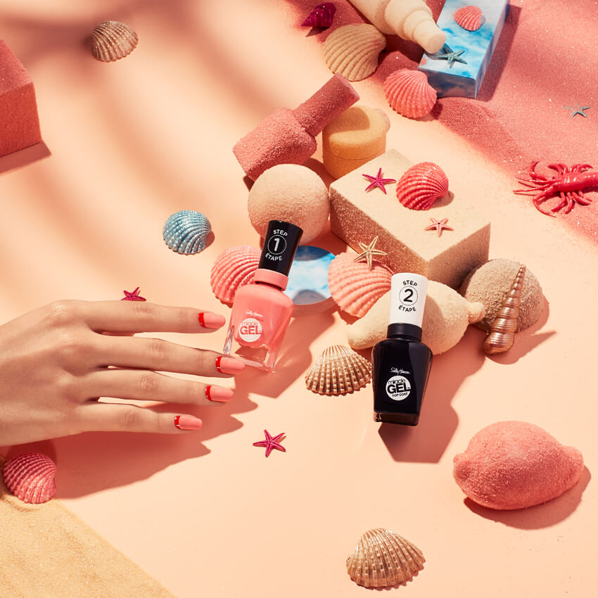 client: sally hansen   credits: photo- jenna gang, styling- marie-yan morvan, art direction- edward yeung  description: conceptual beauty photo of woman grabbing for a Sally Hansen nail polish.