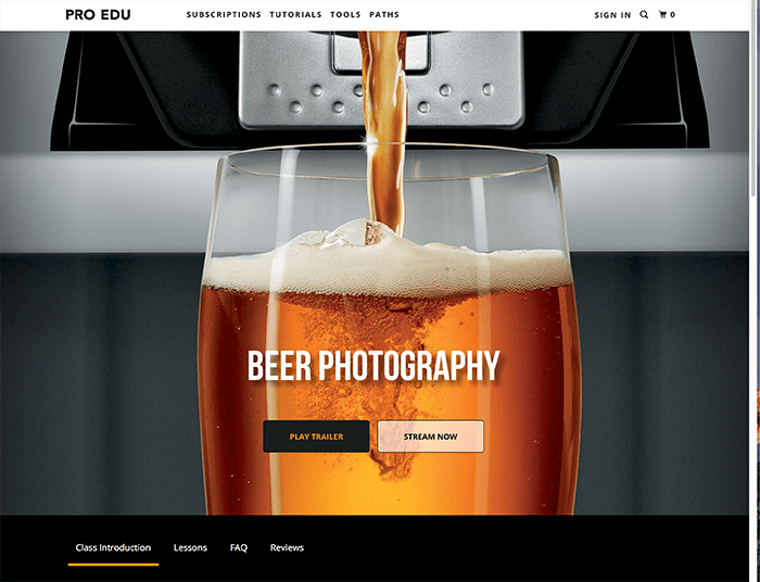 how to photograph and retouch beer and liquids by Robb Grimm at RGGEDU.