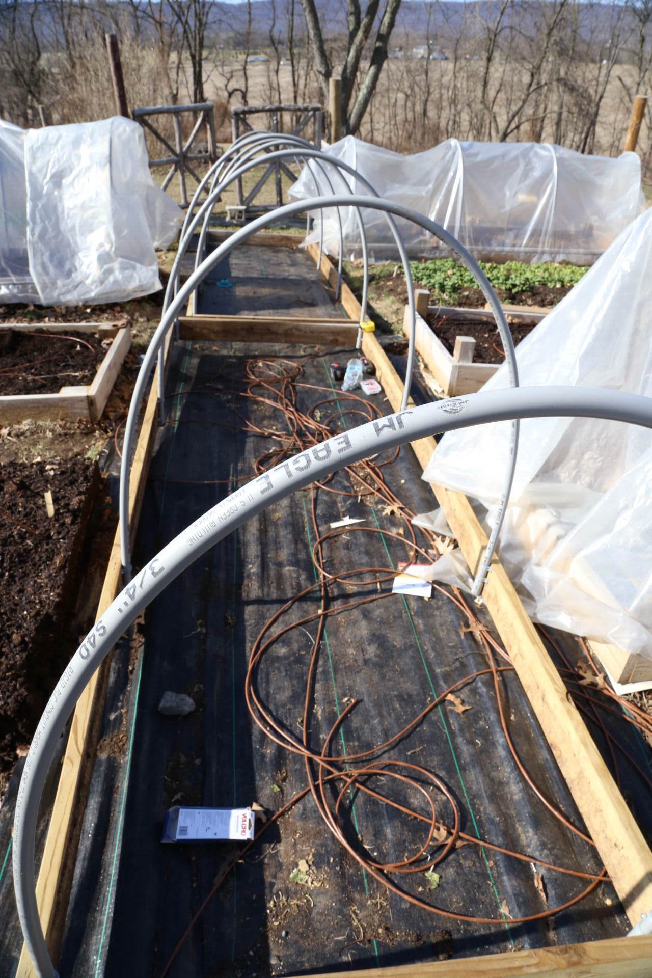 New cold frames without their covers