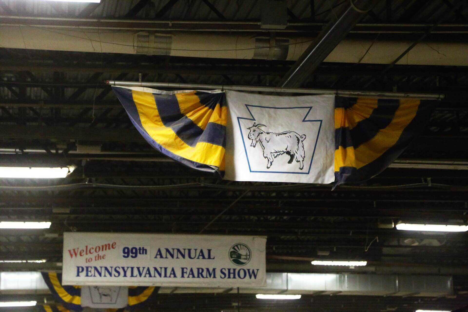 A visit to the PA farm show is a must, even if you just go for the food. Can you guess who loved visiting this section?