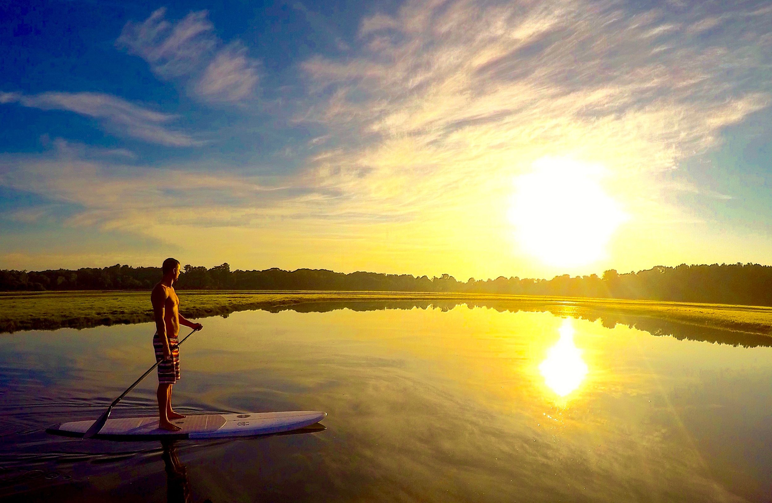 Sunrise Paddle Board tours with Portsmouth Paddle Co