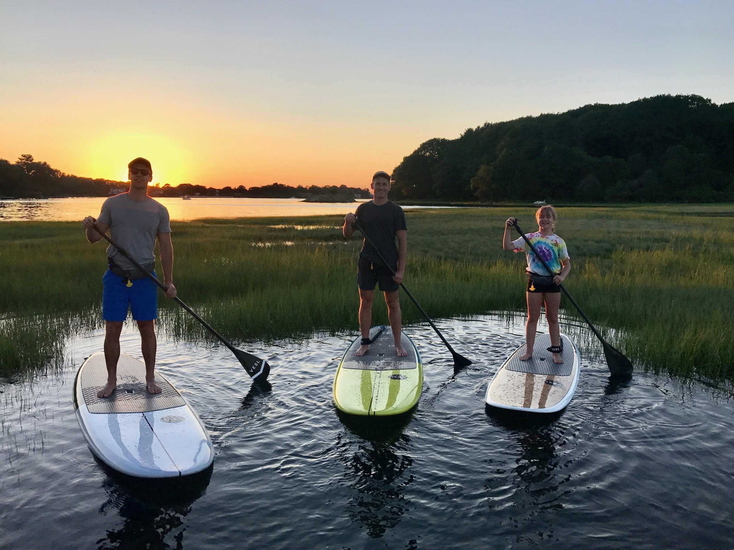 sunset paddle board tour portsmouth nh