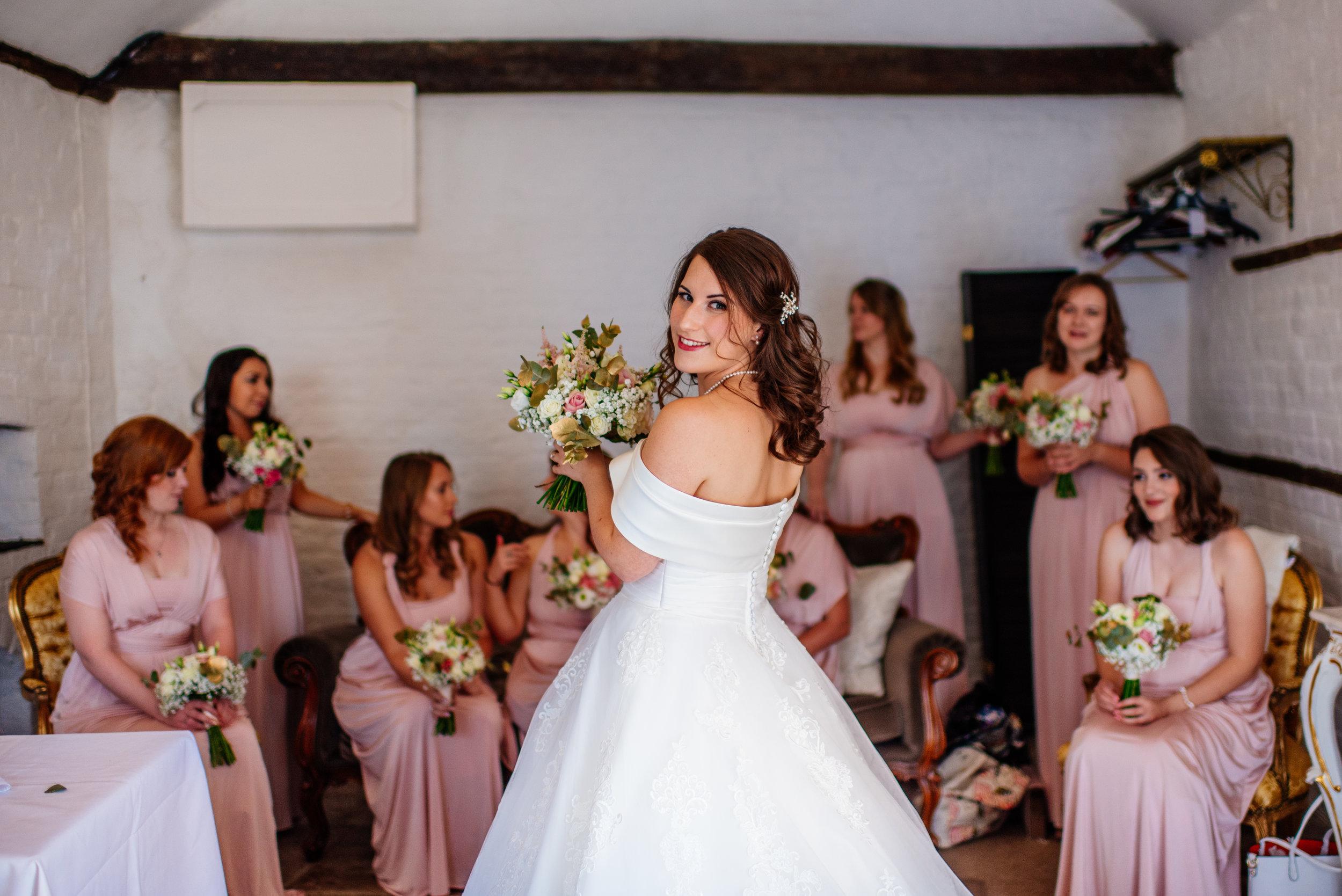 15 Lillibrooke Manor Berkshire Bridesmaids Wedding Photography.jpg
