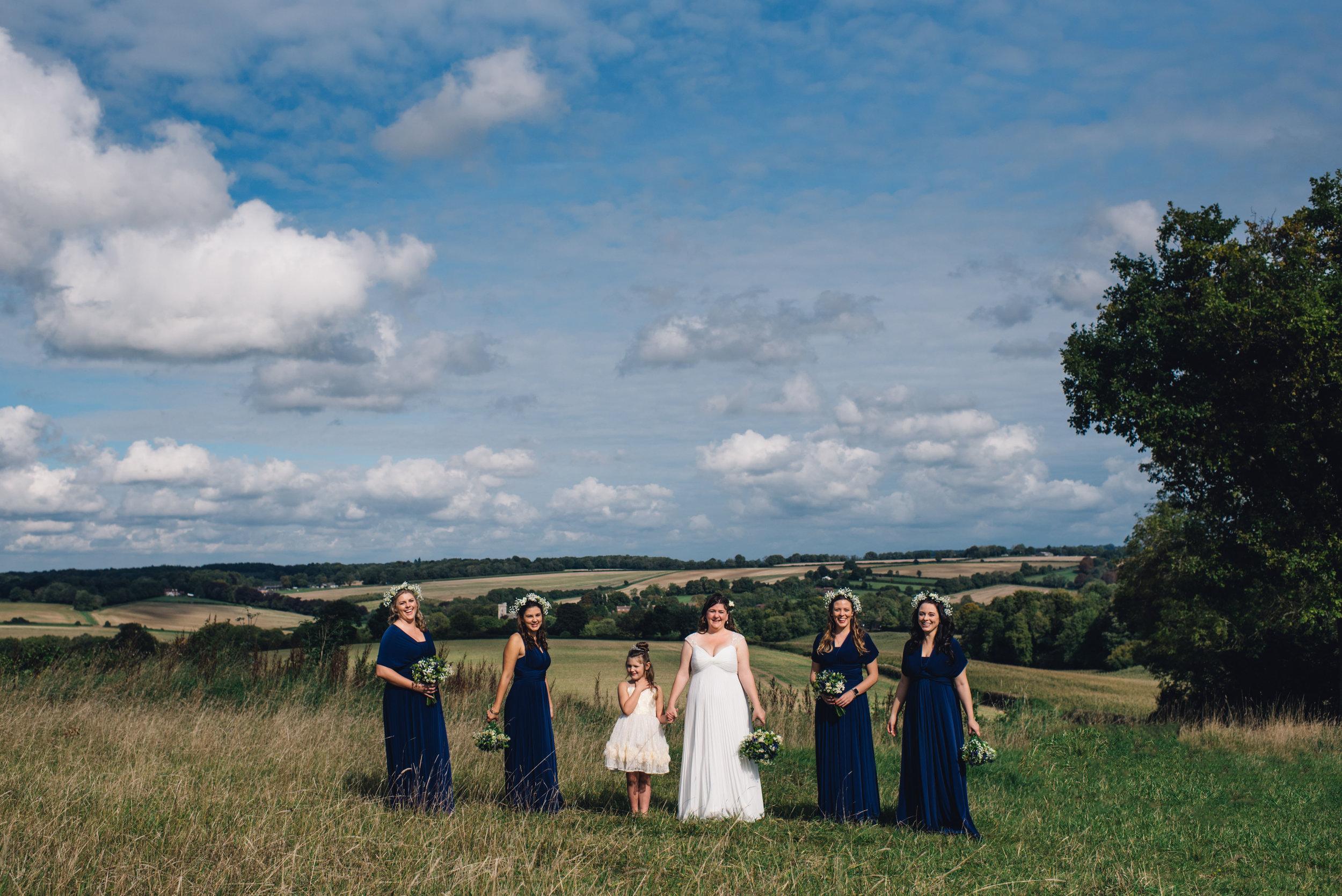 10 HampshirWEdding Photographer Bride Groom Queen Elizabeths County Park Summer Wedding Bridal Party.jpg