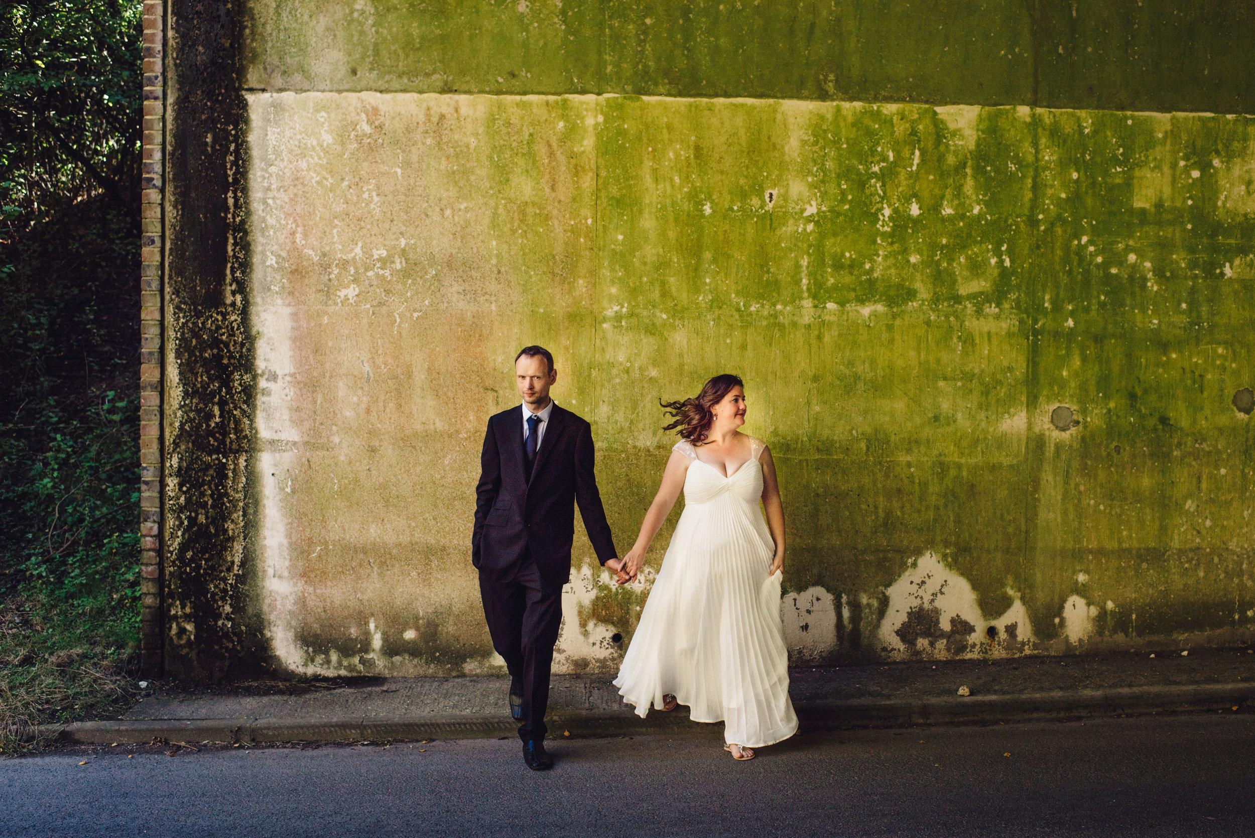 11 HampshirWEdding Photographer Bride Groom Queen Elizabeths County Park Summer Wedding Concrete Wall.jpg