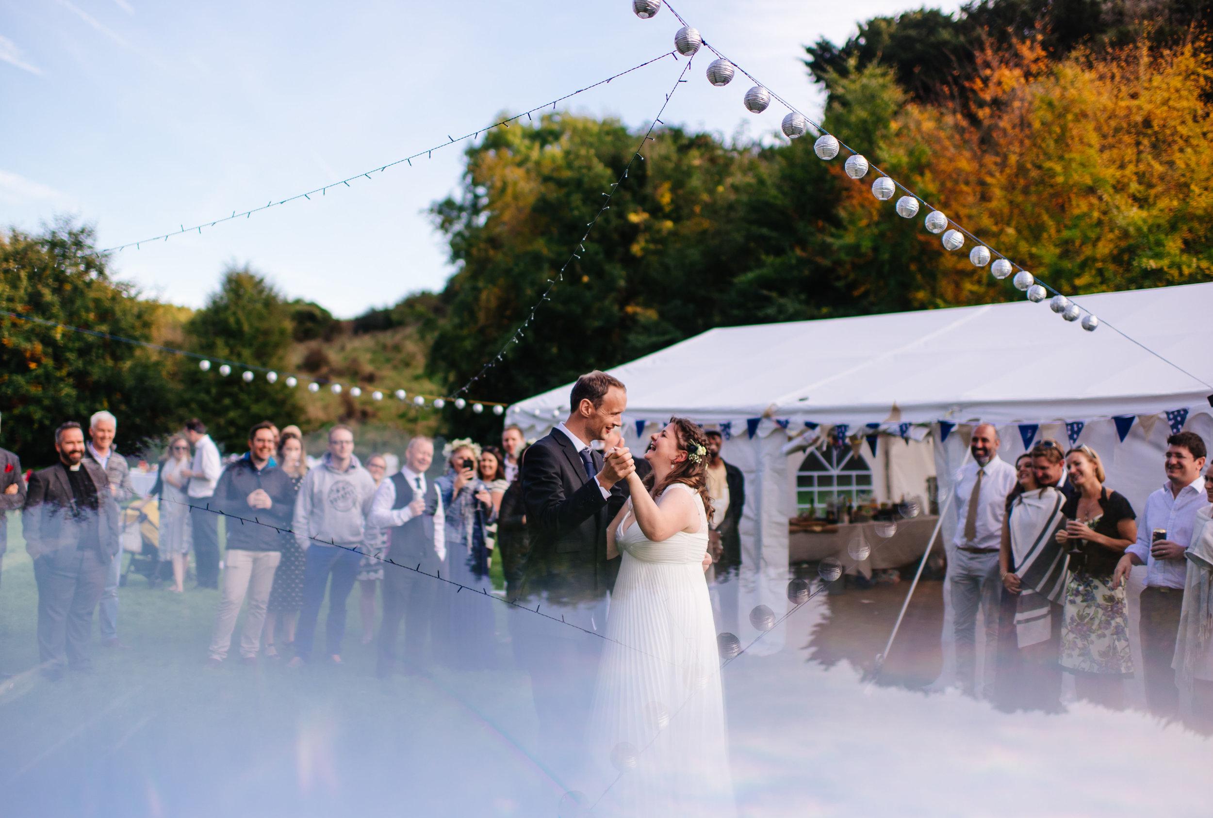 13 HampshirWEdding Photographer Bride Groom Queen Elizabeths County Park Summer Wedding First Dance.jpg