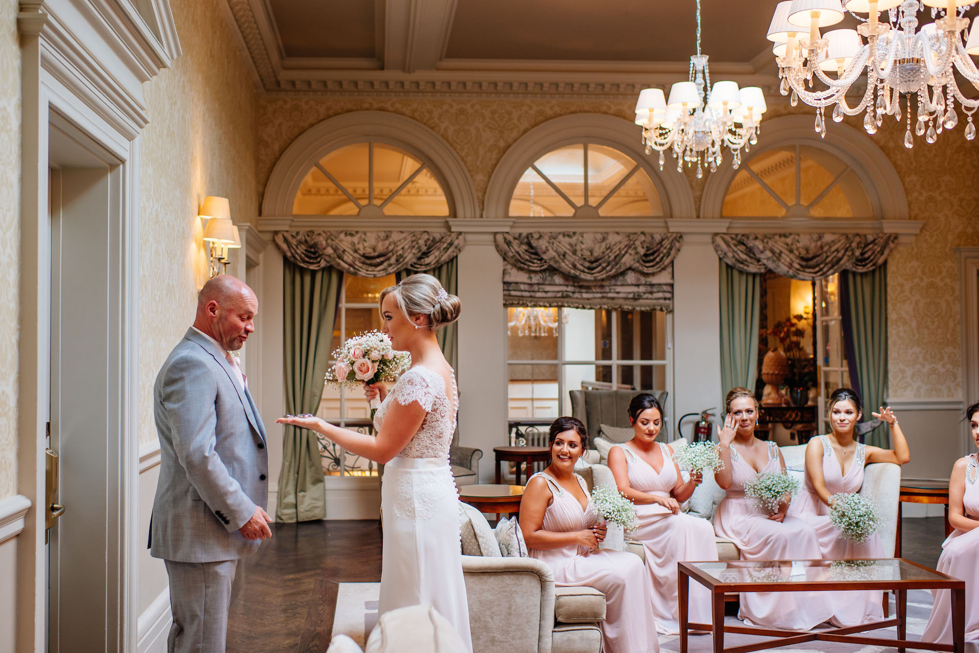 12 Down Hall Country House Hotel First Look Father of the Bride Wedding Photography.jpg