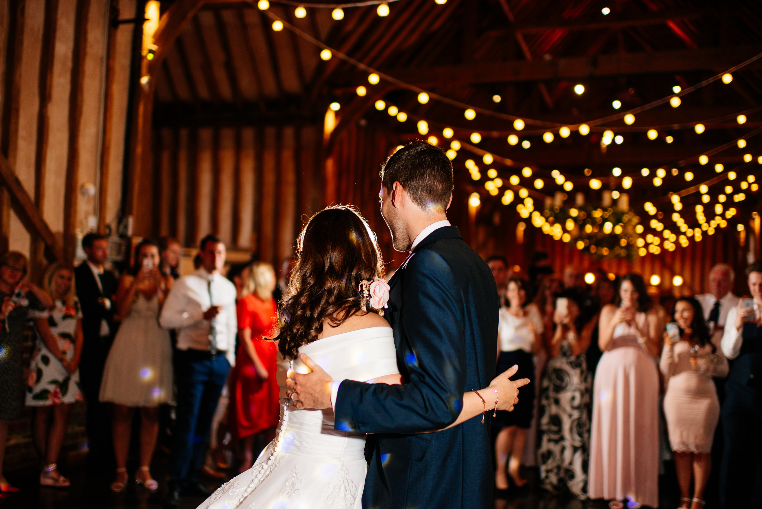 22 Lillibrooke Manor Berkshire Wedding Photography Bride Groom First Dance.jpg