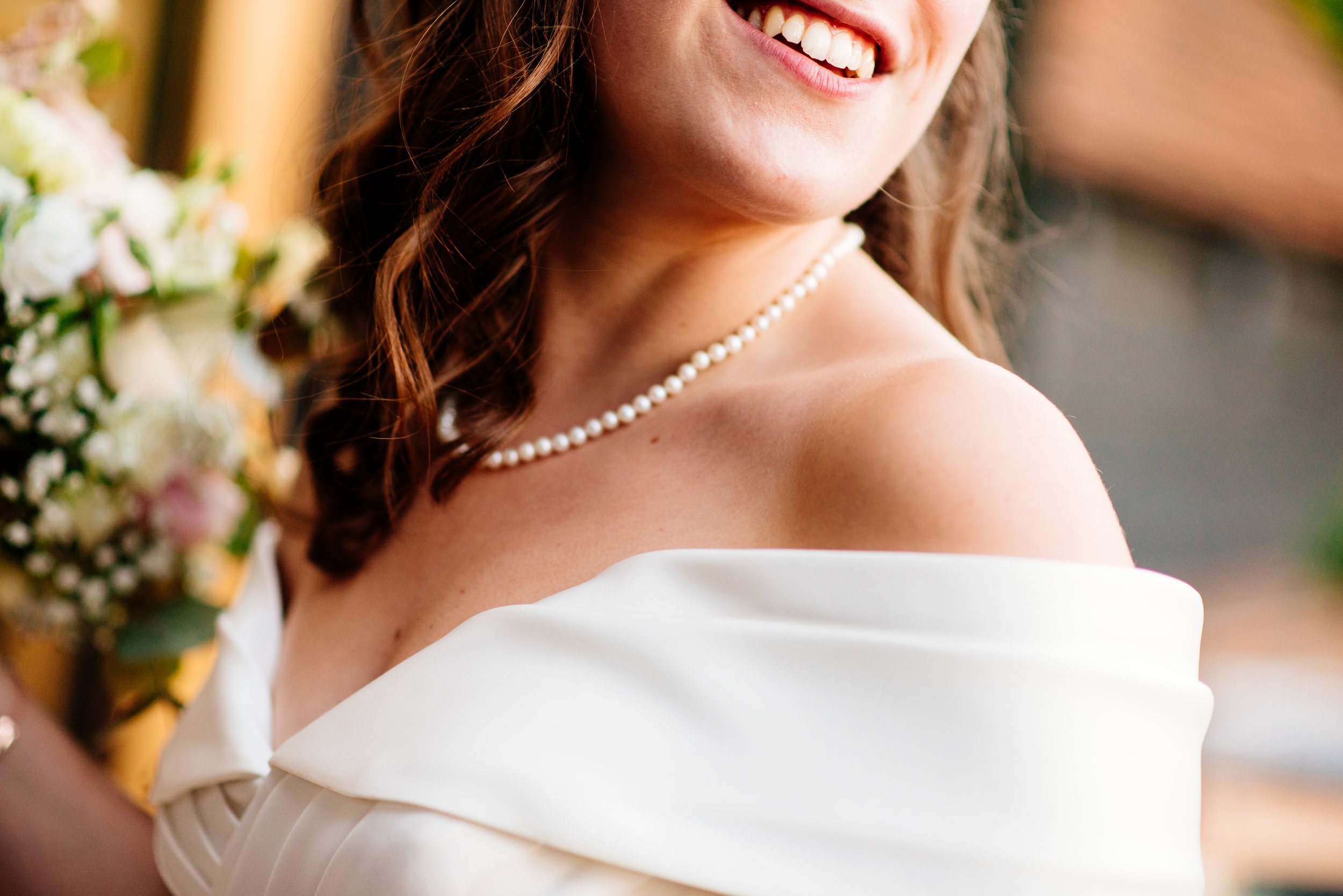 21 Lillibrooke Manor Berkshire Wedding Photography Bride Smile Close up.jpg