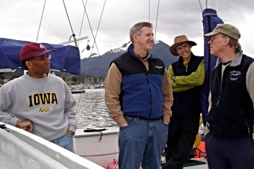 Some of the crew aboard Arcturus : Phil, Bob, Miles and Nels.