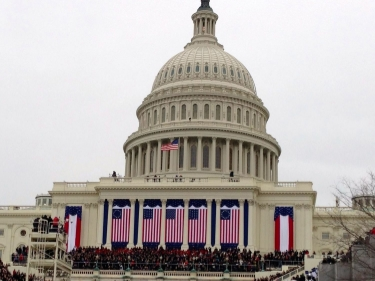 An iconic symbol of national sovereignty: President Obama's second inauguration at the United States Capitol.