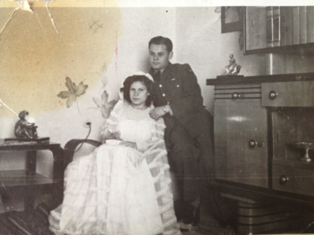 Rina and Moise Mevorach, Libya, 1943