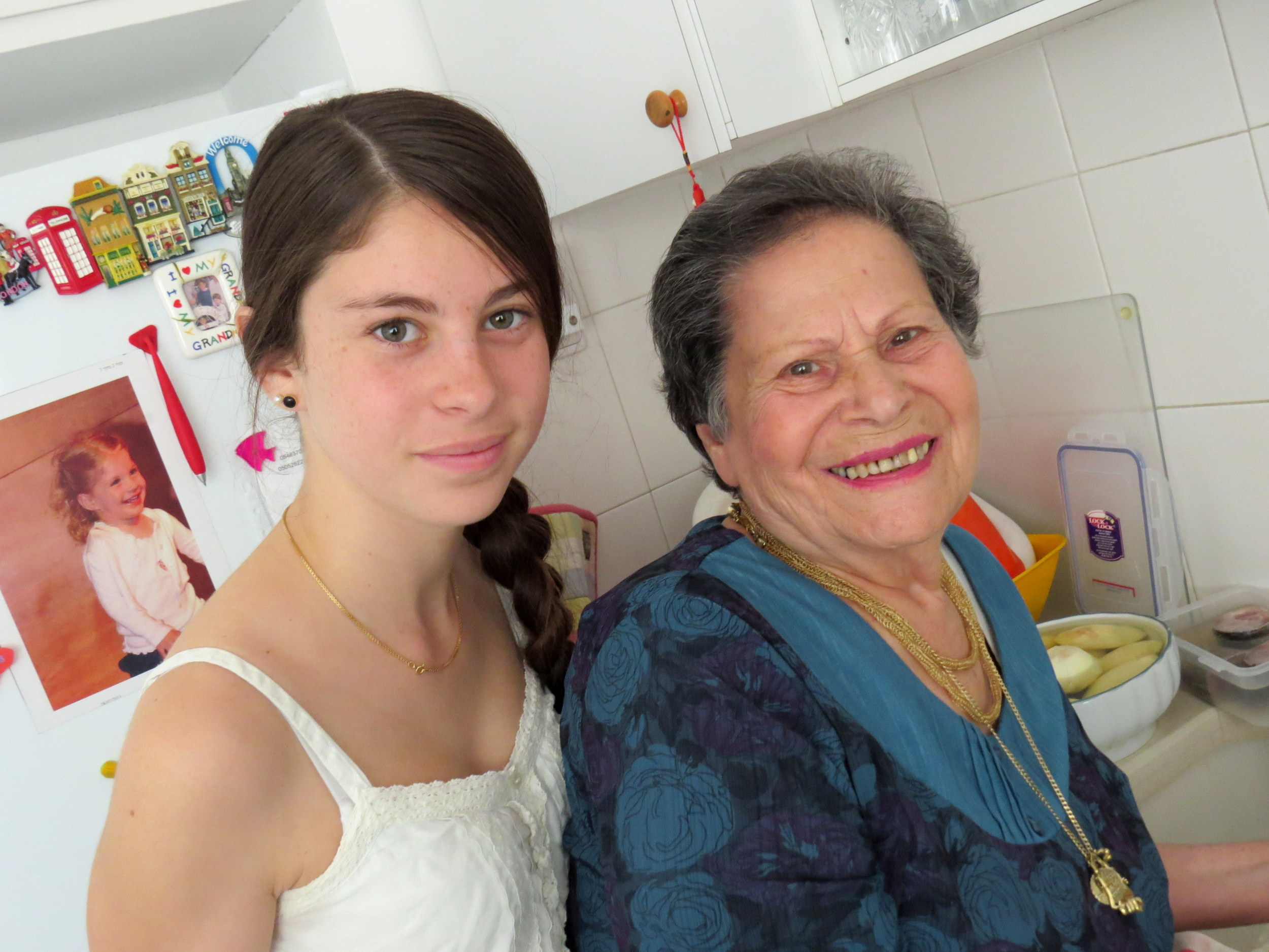 Enelle Mevorach with her grandmother Rina