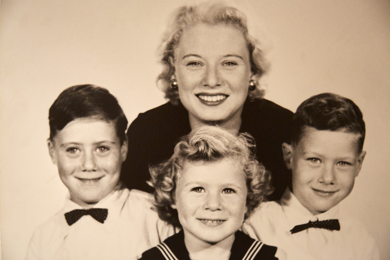 Ruth Hampel with her 3 sons, Max, Alex and Danny