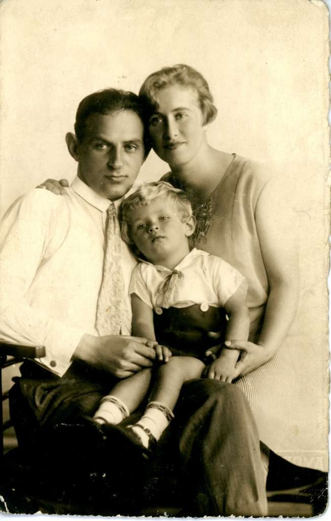 Marysia Segan's parents, Henryk and Regina, with her brother Jan, Poland, late 1920s.