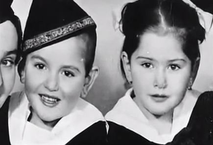 3 sets of Jewish twins experimented upon in Auschwitz by Dr Mengele. Clockwise from left: Yehudit and Leah Csengeri; Eva and Miriam Kor; Menashe and Leah Lorenzi.