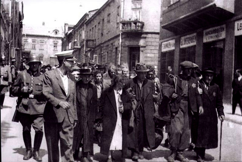 Jews being taken from Chrzanow in the 'Selection'1942