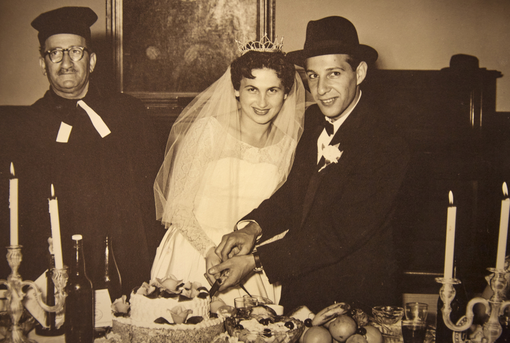 Judy marries Hymie Kolt, Melbourne 1957.