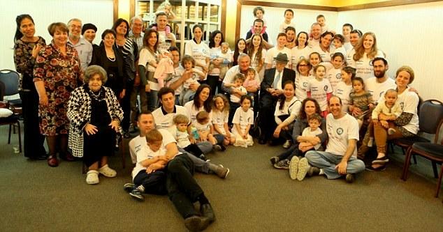 A Kristal family photo. He has 2 children, 9 grandchildren and more than 20 great grandchildren.