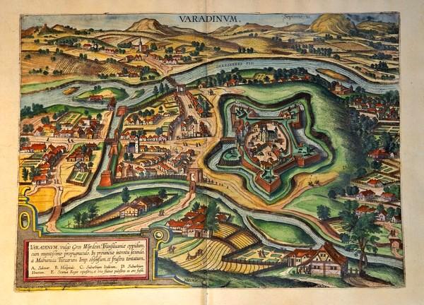 Oradea, map from 1617