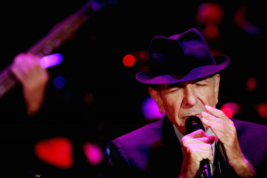 Leonard Cohen performing in Israel, 2009 (Photo: Marko, Flash 90) He donated the proceeds from this concert to groups working for peace between Israelis and Palestinians.At the end of the concert he blessed the audience, with the 'Birkat Hacohanim' the traditional priestly blessing.