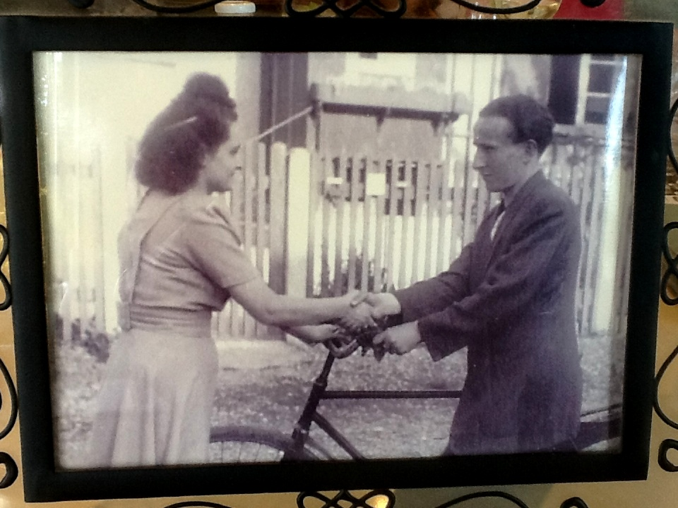 Hania's favourite photo of her and husband David, in Europe after the War