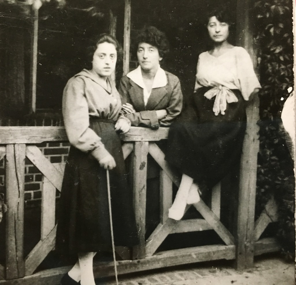 Saba's mother (left) and her sisters, Pola and Gucia (seated). Saba's mother died when Saba was 11 years old, and her father married his wife's sister Gucia. Saba loved her aunt Pola the best.