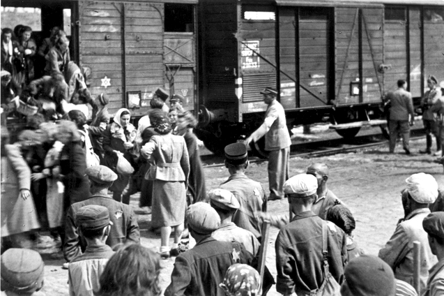 Jews being deported from Lodz, 1944. Saba, her sister Edzia and her aunts Pola and Gucia were on these transports. They were taken to the death camp of Auschwitz, in another part of Nazi-occupied Poland.