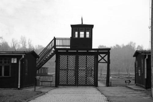 """""""Death Gate"""" at Stuthoff concentration camp, Poland."""
