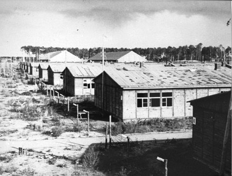 Barracks at Stuthoff, a death and slave labour camp operated by the Nazis in Poland during World War Two.