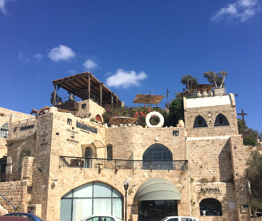 Ilana Goor's Musuem in her sprawling, beautiful house in the Old City of Jaffa.