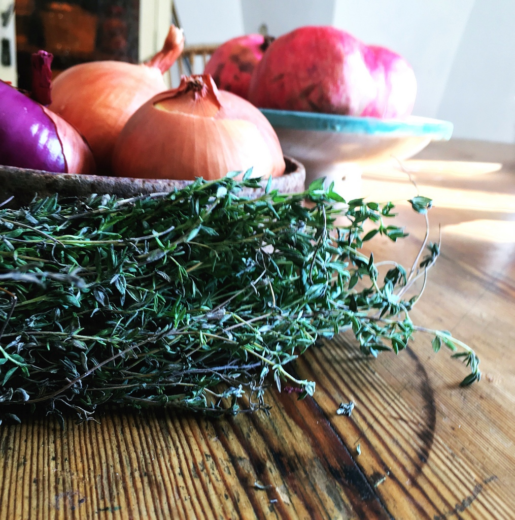 Thyme in a bunch from the market is long-lasting and also out-tastes any dried herb in a jar.