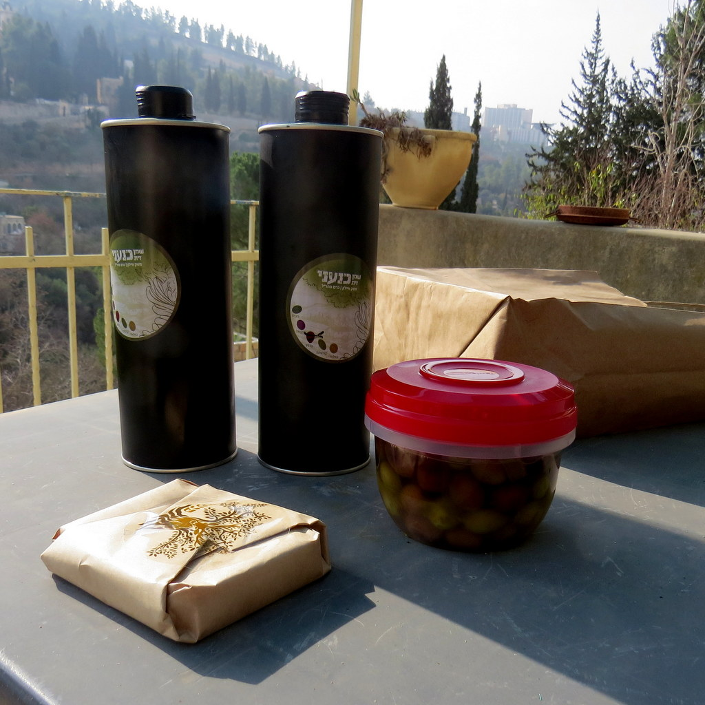 A   New Year's feast - organic olive oils, olive soap and of course olives!