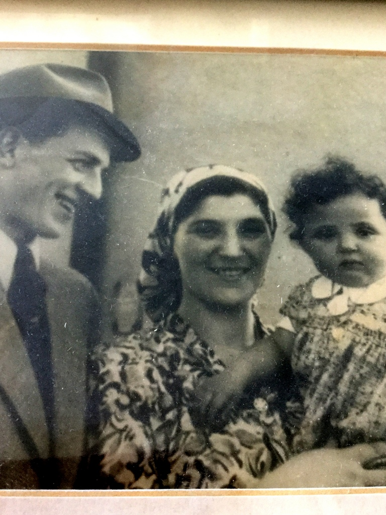 Amram and Lili Deutsch with their daughter Mindy, around 1947 when Mindy was 18 months old, in the DP camp Bergen-Belsen. in 1949, they migrated to the United States. Both Mindy's parents were Survivors of Auschwitz.