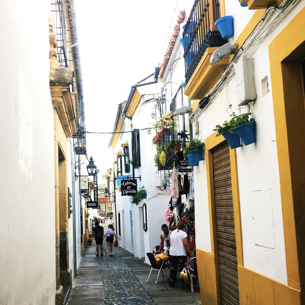 Street in the Juderia, in the Old City of Cordoba.