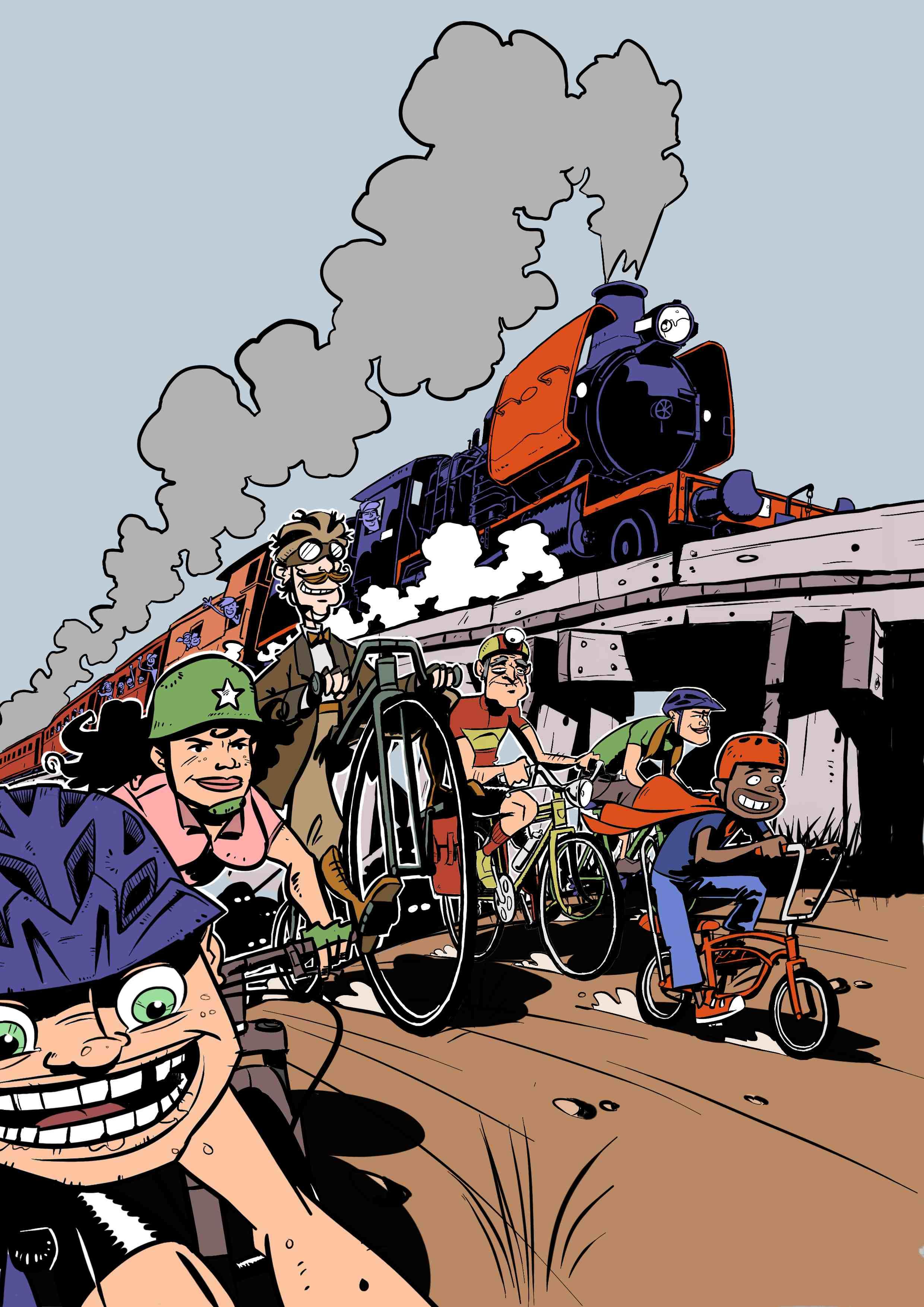 Goldfields Steam Train Challenge poster art.