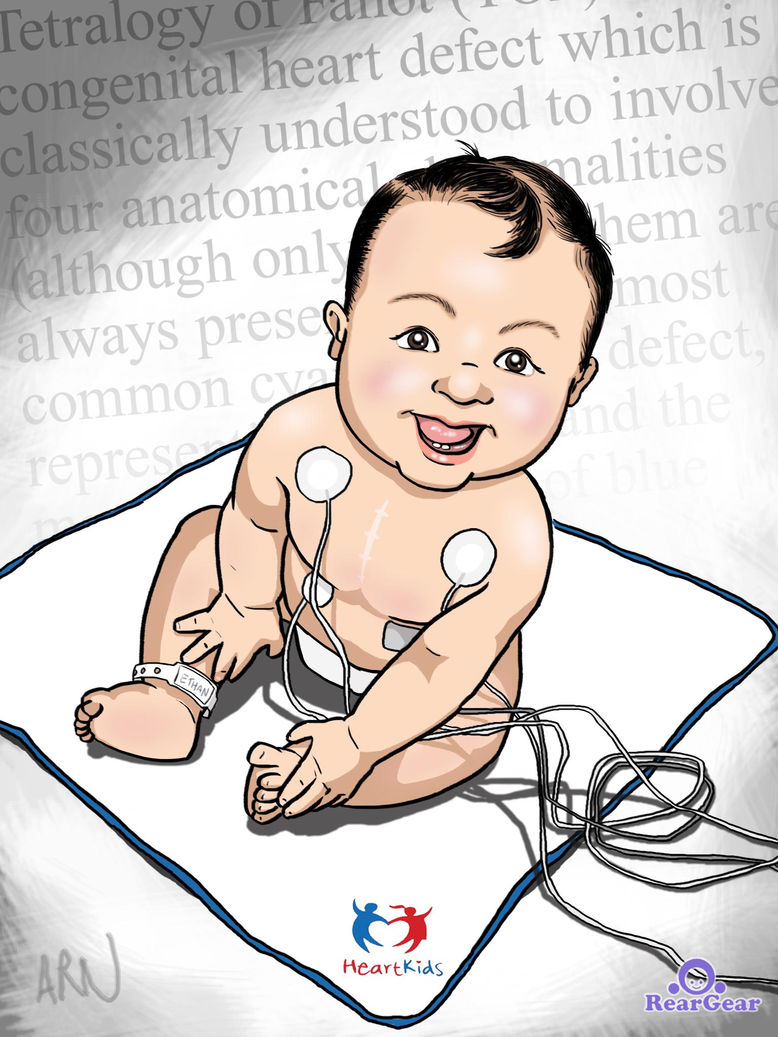 Heart Kids magazine cover art