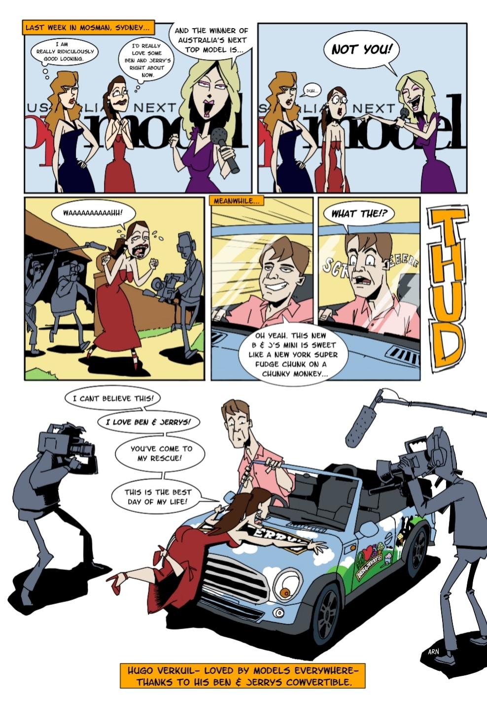 Ben and Jerrys internal staff magazine comic