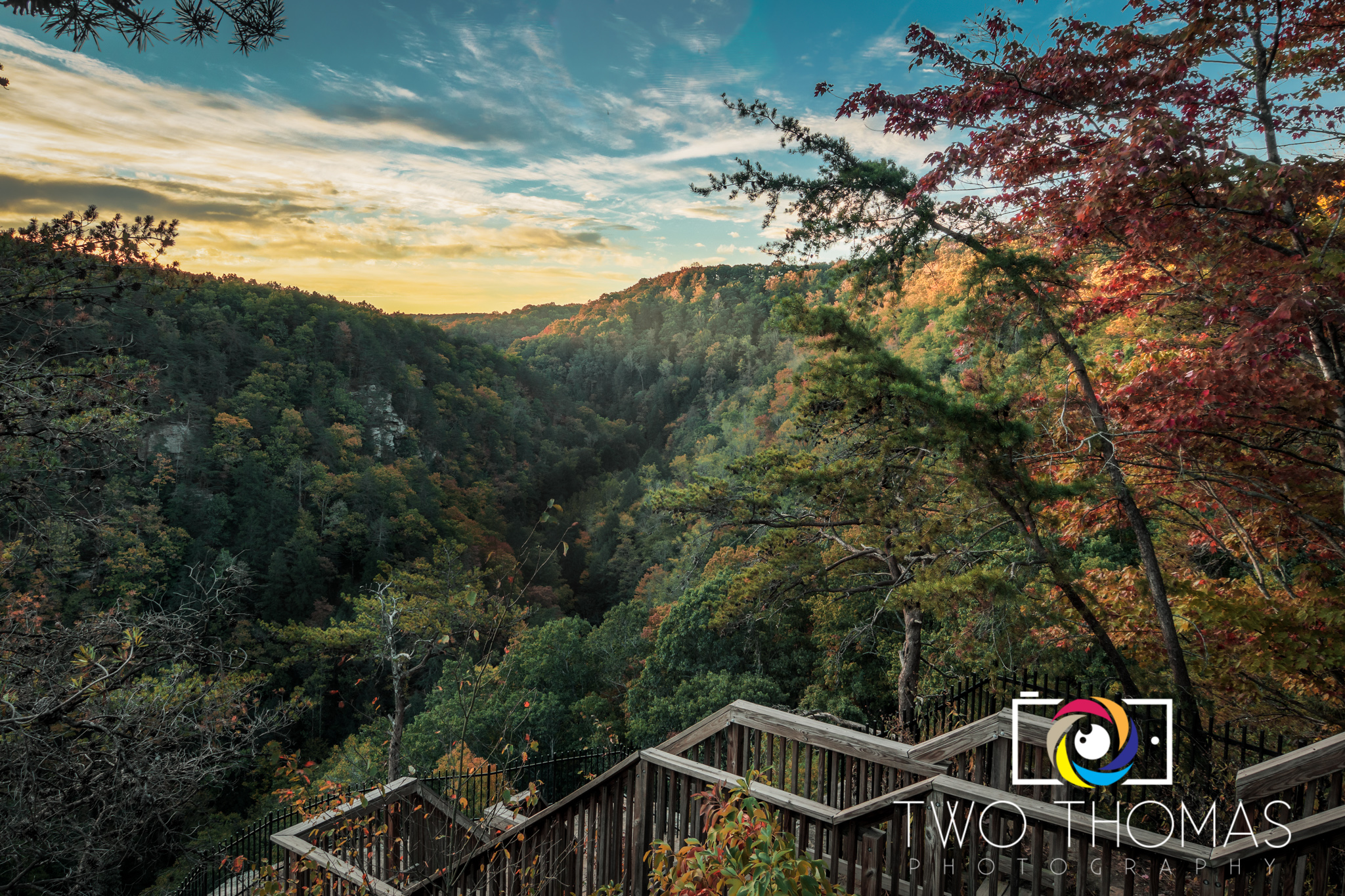 Early autumn sunrise at Cloudland Canyon State Park in Rising Fawn, GA.