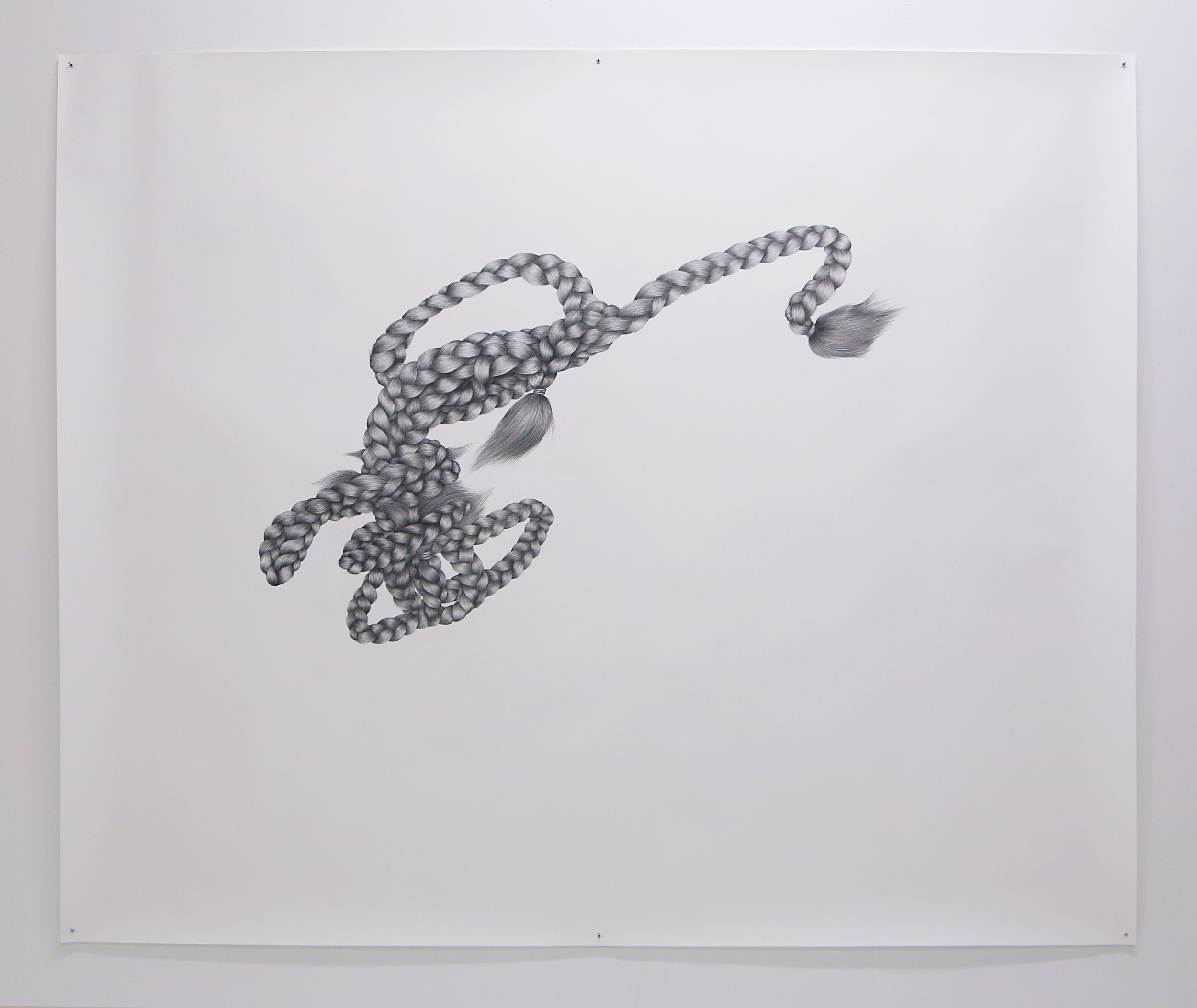Tethers  , 2013,  Graphite on Paper, 1500mm x 1800mm