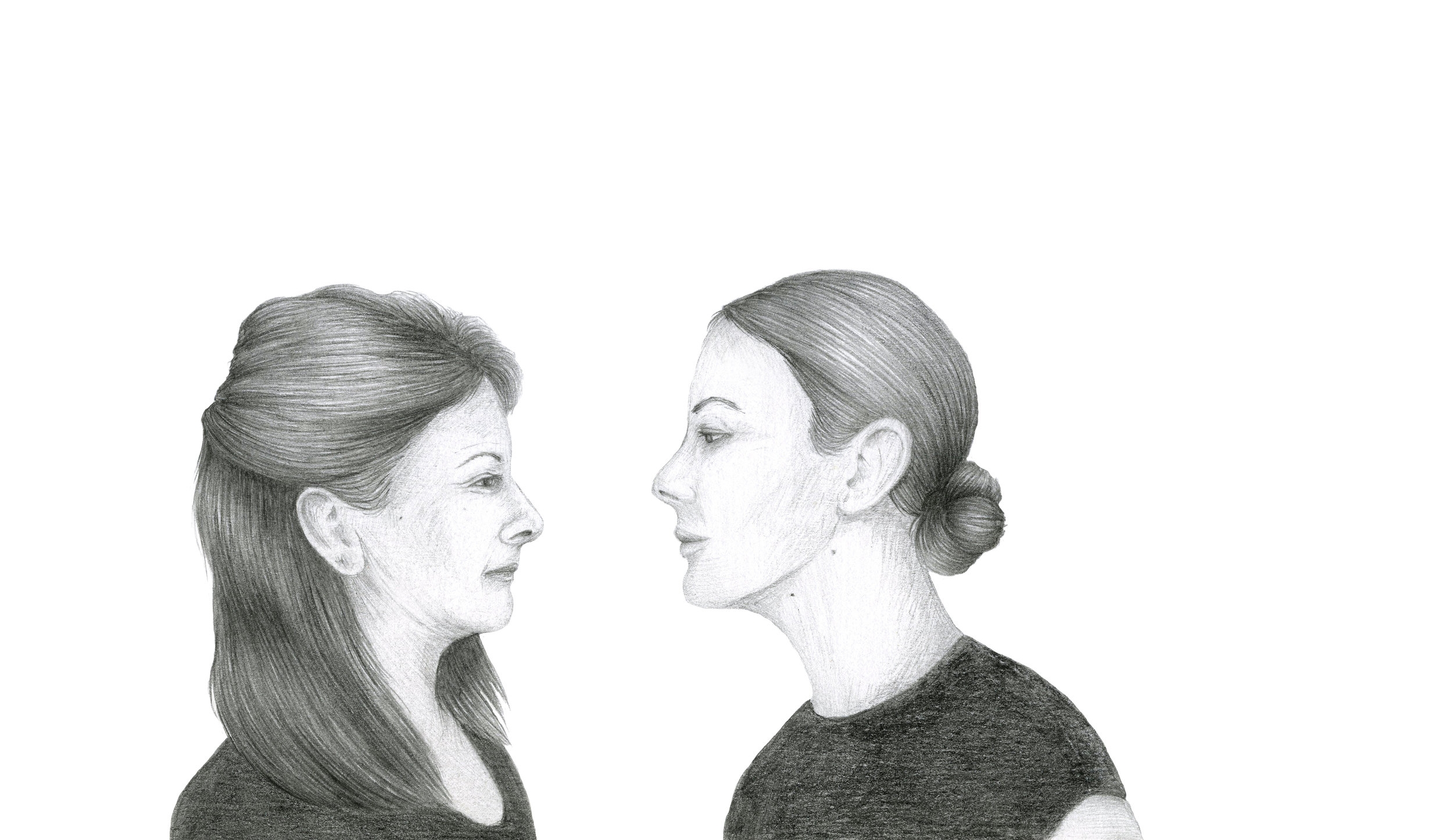 Mother/Daughter , 2017. Graphite on Paper, 180mm x 225mm
